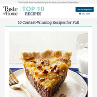 10 Contest-Winning Recipes for Fall