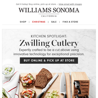 Expertly crafted Zwilling cutlery + take an extra *20% OFF* clearance