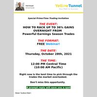 You're Invited: Free Earnings Season Webinar, please RSVP