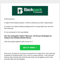 Find trading wins just in time for the holidays