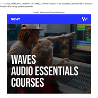 Learn audio skills & get certified with Waves