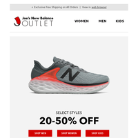 Up to 50% Off New Balance