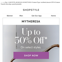 Limited Time! 30% OFF Select Styles at Mytheresa