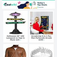 Diamond Platinum Bracelet $27 | Halloween Lamppost $29 | Bose Soundbar II $119 | Men's Leather Jacket $199 | Lenovo Chromebook $59 | Moccasin Slippers $15