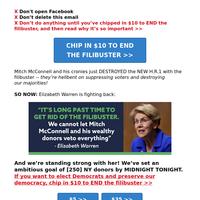 Elizabeth Warren's URGENT message >>