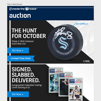 For a Limited Time Only! New NHL Auctions!