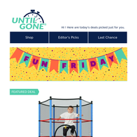 Fun Friday! - 75% Off Youth Round 55'' Trampoline