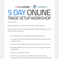6 signs you need this new LIVE 5-day Workshop