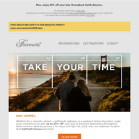 {NAME}, take it easy on your fall getaway!