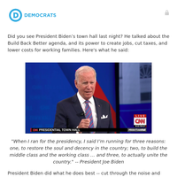 re: what President Biden said last night