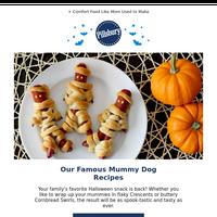 👀 They're Baaaaack! Crescent Mummy Dogs