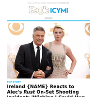 Ireland {NAME} reacts to Alec's Rust on-set shooting incident: 'wishing I could hug my dad'
