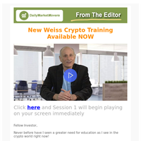 New Weiss Crypto Training Available NOW
