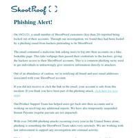 Recent phishing alert; Please read