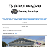 SCOTUS to evaluate Texas abortion bill, otter lawsuit, Stars' crowded home opener: Your Friday evening roundup