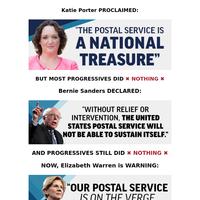 Katie Porter, Bernie Sanders, Elizabeth Warren...