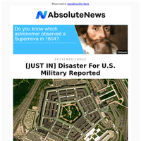 [JUST IN] Disaster For U.S. Military Reported