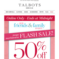 ENDS MIDNIGHT ⚡ 50% off MARKDOWNS Flash Sale ⚡