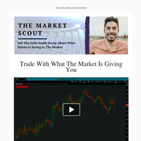 Market Scout Daily Video: Trade With What The Market Is Giving You