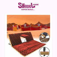 Get Now Foldable Camping Floor Seat with 3 Adjustable Back Support Levels and Arm Stand, Only for 9.9KD!!