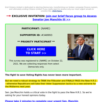 [Joe Manchin] you are the only 10016 response we need >>