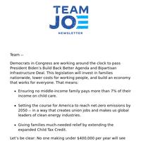 {NAME}'s Team Joe Newsletter