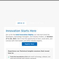 Register for Intel Innovation Digital Tech Event