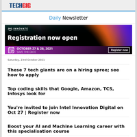 These 7 tech giants are on a hiring spree; see how to apply | Top coding skills that Google, Amazon, TCS, Infosys look for