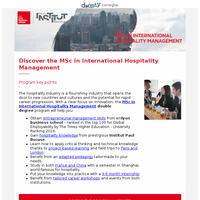 Become a global Leader with the Double Degree in Hospitality Management