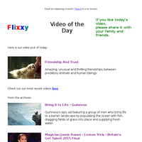 ★ Video of the Day & Quote of the Day - by Flixxy.com - Friendship And T rust