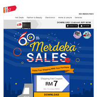 SALES up to 84% off this Merdeka
