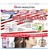 AWESOME MERDEKA DEALS UP TO 90%!!