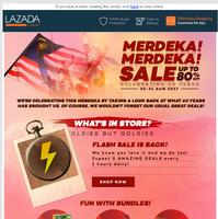 Merdeka! Merdeka! Sale Up to 80% Off