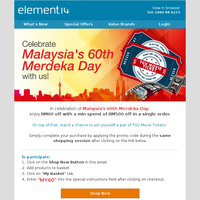 Celebrate Malaysia's 60th Merdeka Day with us!