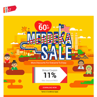 Discounts 60% and Beyond this Merdeka!