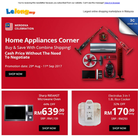 Last Week of Merdeka Home Appliances Sales